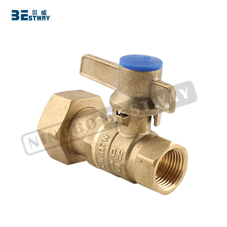 BWVA 100% payment protection international standard key lock ball valve