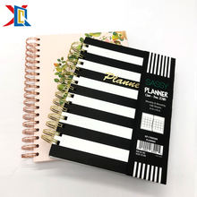Custom Printing 2021 Hardcover A5 Spiral Paper Note Book Diary Journal Agenda Daily Weekly Monthly Organizer Planner Notebook