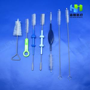 8803Disposable Medical Twoends Surgical Nylon PP Tube Cleaning Brush