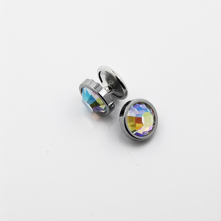 High Quality 6.5mm AB Color Rhinestone Rivet for Garments Leather