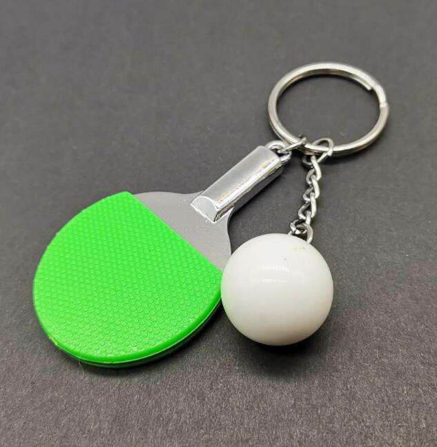 Table Tennis ball Keychain Cute Cartoon Characters hangings sport gifts high quality Alloy keychain