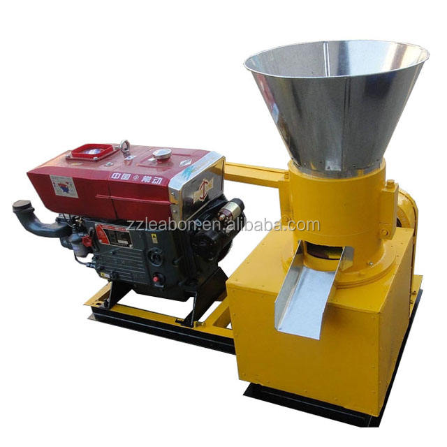 Wood Log Grass Grinding Powder Pressing Granulator Wood Pellet Mill