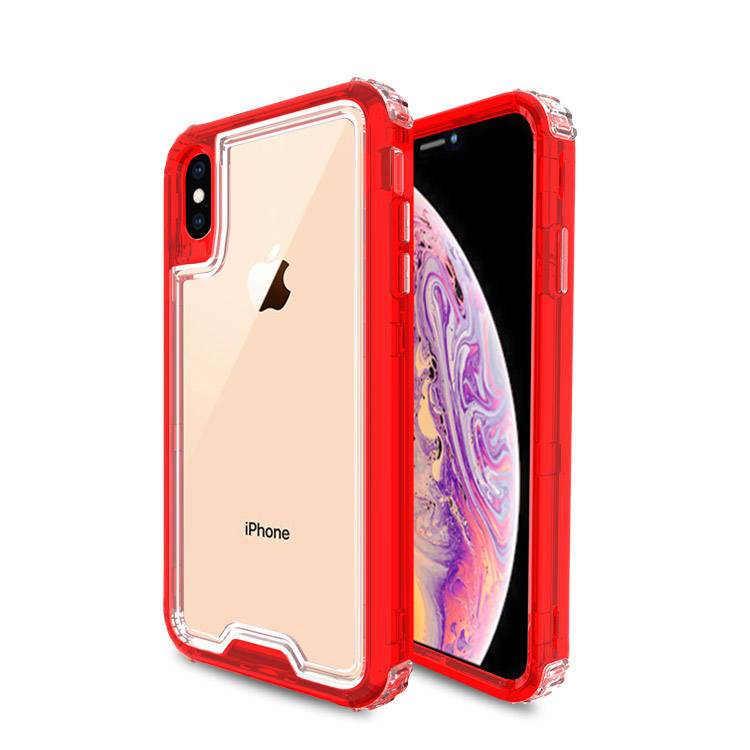 Shock Absorptipn Triple Combo Del Telefono Protegge Il Caso 2 in 1 PC + di TPU Misura per Iphone X/XS/ XS MAX