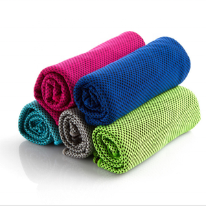 factory price polyester/polyamide microfiber ice towel Portable Common Solid Cooling Towel