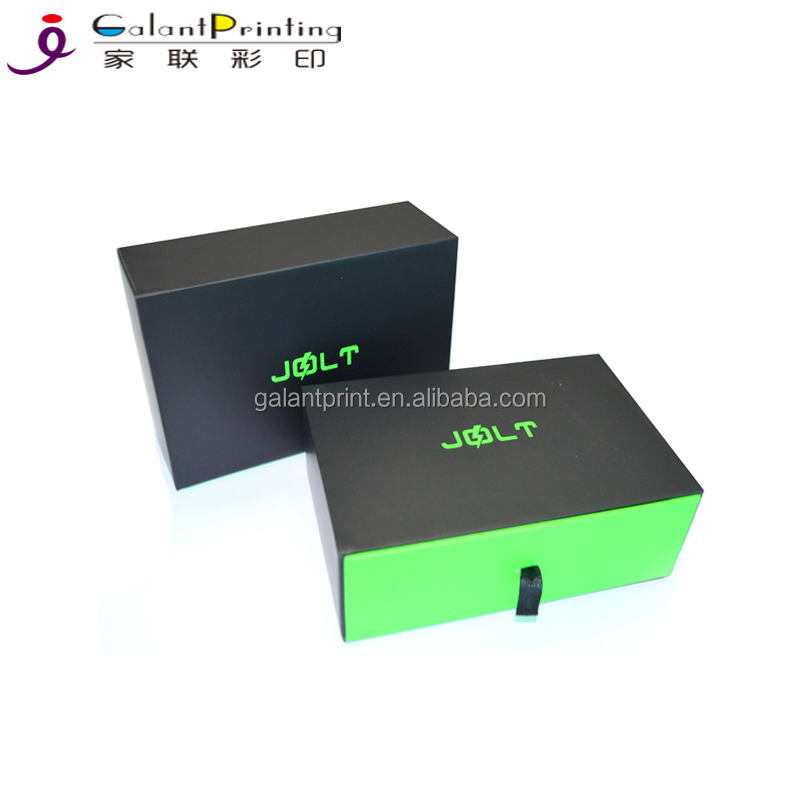 Black paper drawer box for gifts packaging custom black paper matchbox