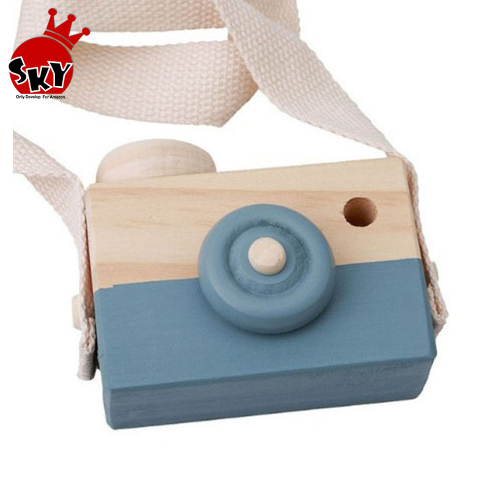 New Mini Cute Natural Wooden Camera Toys Safe For Baby Children Fashion Educational Toys Christmas Birthday Gifts For Kids