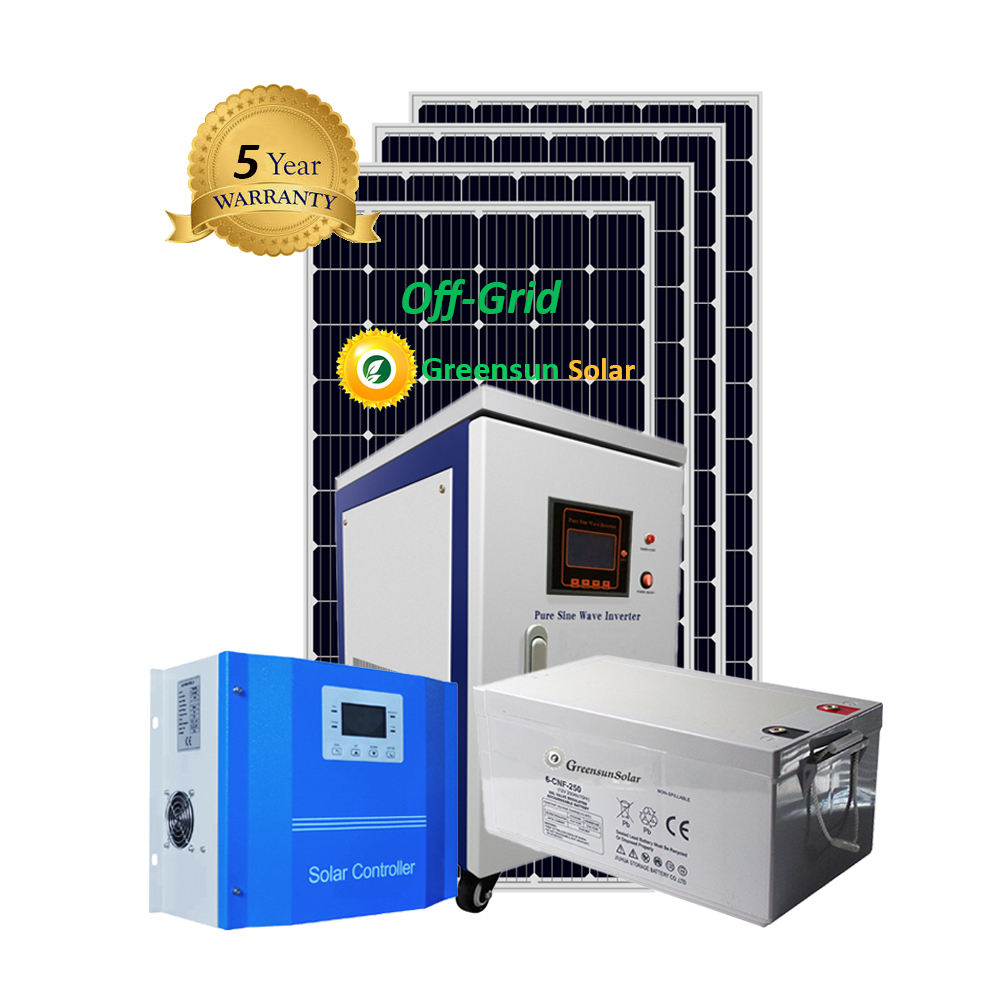 Home Power Standalone 2kw 3kw 5kw solar panels system 2000w off grid solar inverter
