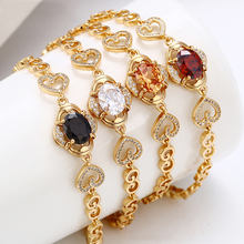 75025 Guangzhou Xuping 18k gold bracelet women, gold plated fashion women charm bracelet