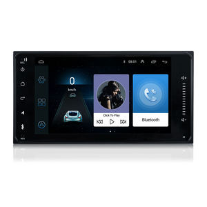 Android 8.0 Double Din Car Radio Player MP5 7 polegadas Touch Screen Multi-funcional rádio android para Toyota