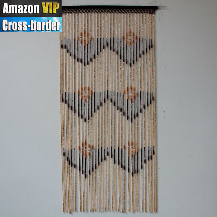 wholesale HOT sale bamboo beaded painted decorate door curtain/ bamboo door curtain