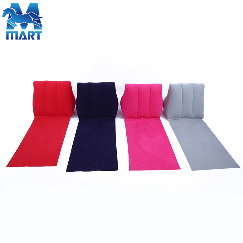 Customized Inflatable PVC Flocking Wedge Cushion/Pillow on Beach
