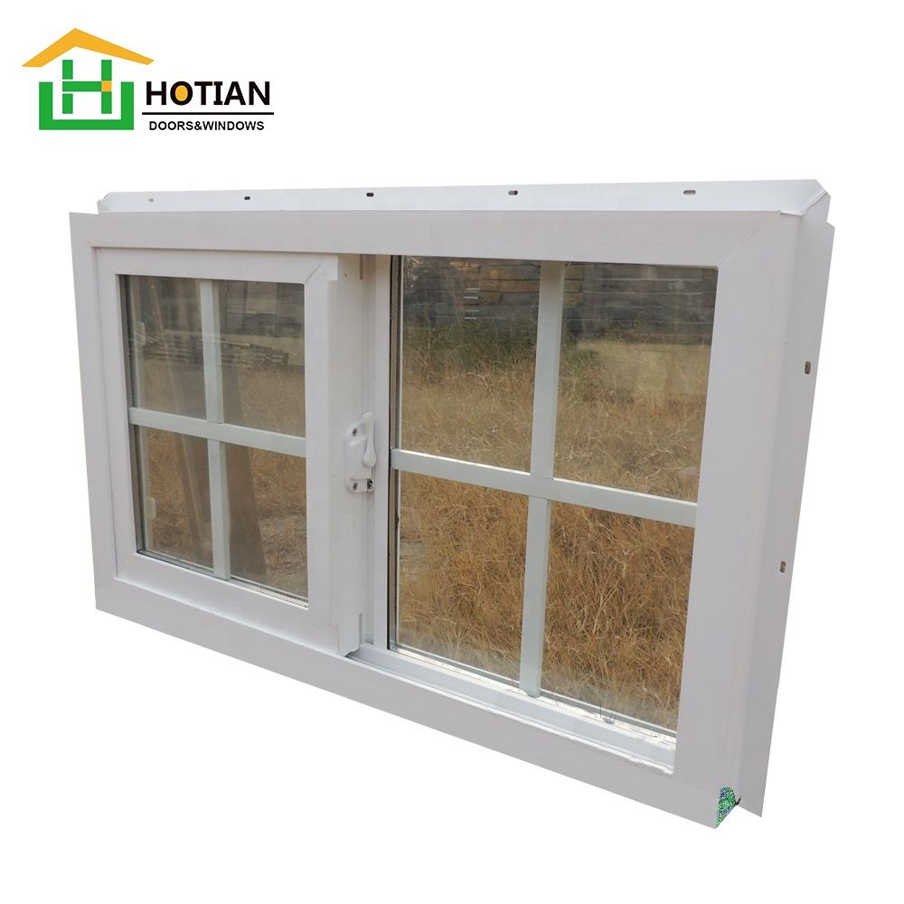 American style PVC double sliding window typical sliding UPVC window sash window with mosquito net