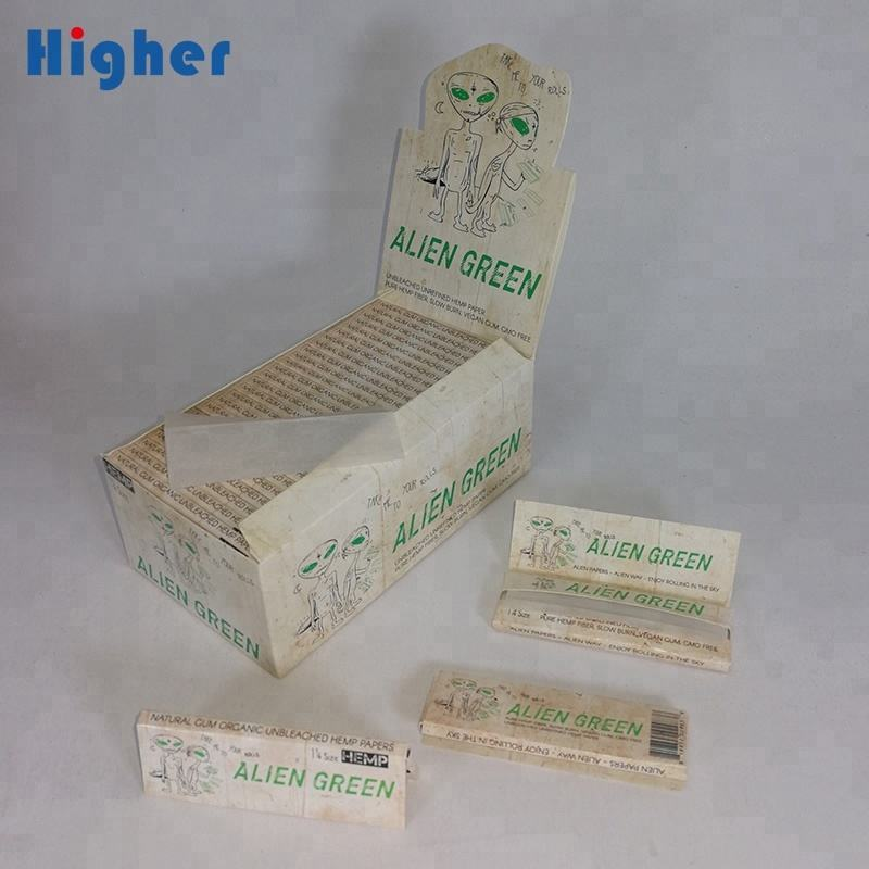 tobacco paper 100% natural gum ultra thin slow burning unbleached HEMP rolling paper 1 box of 50 booklets