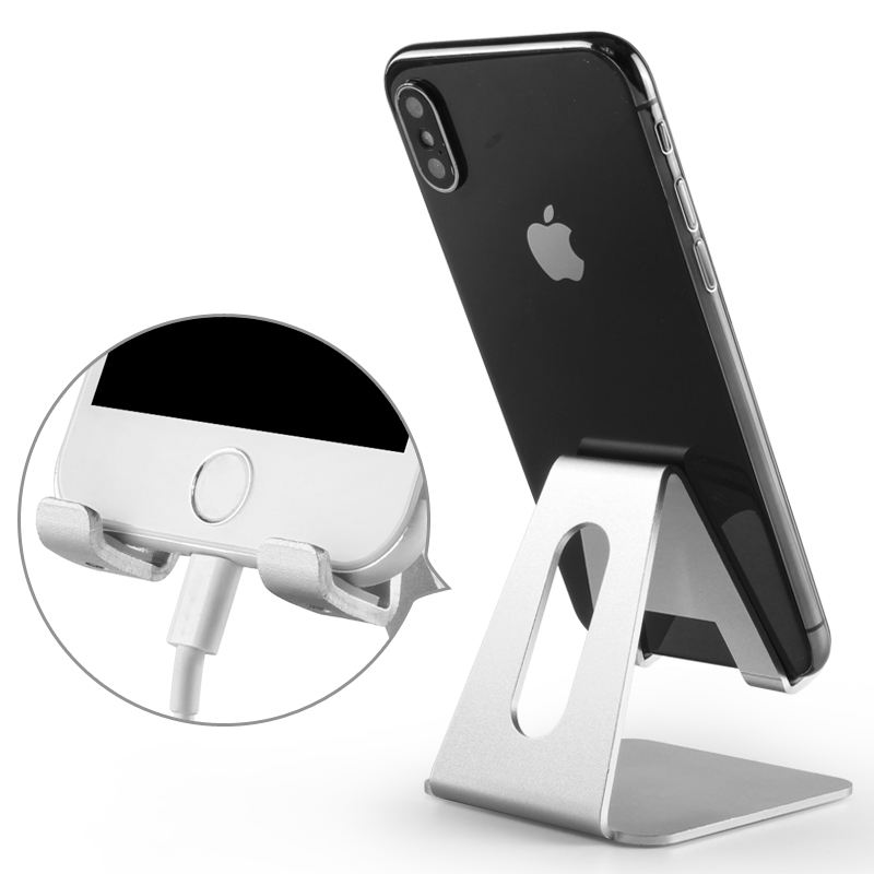 Cell phone mount custom logo desktop stand soporte base flexible para celular smartphone holder
