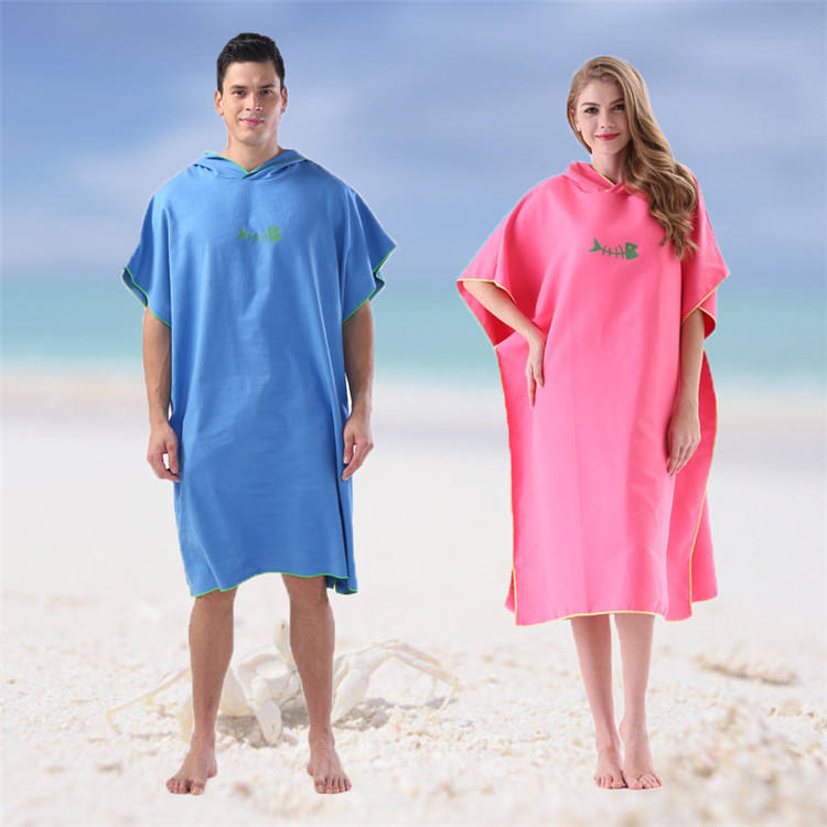 U-HomeTalk UT-MJ150 Multi-purpose Thick Microfiber Surf Poncho Wetsuit Changing Robe/Hooded Towel for Surfing Swimming Bathing