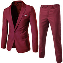 Hot Sale Fashion Party Suit Men Suit Design Men Red Men Fitness Suit