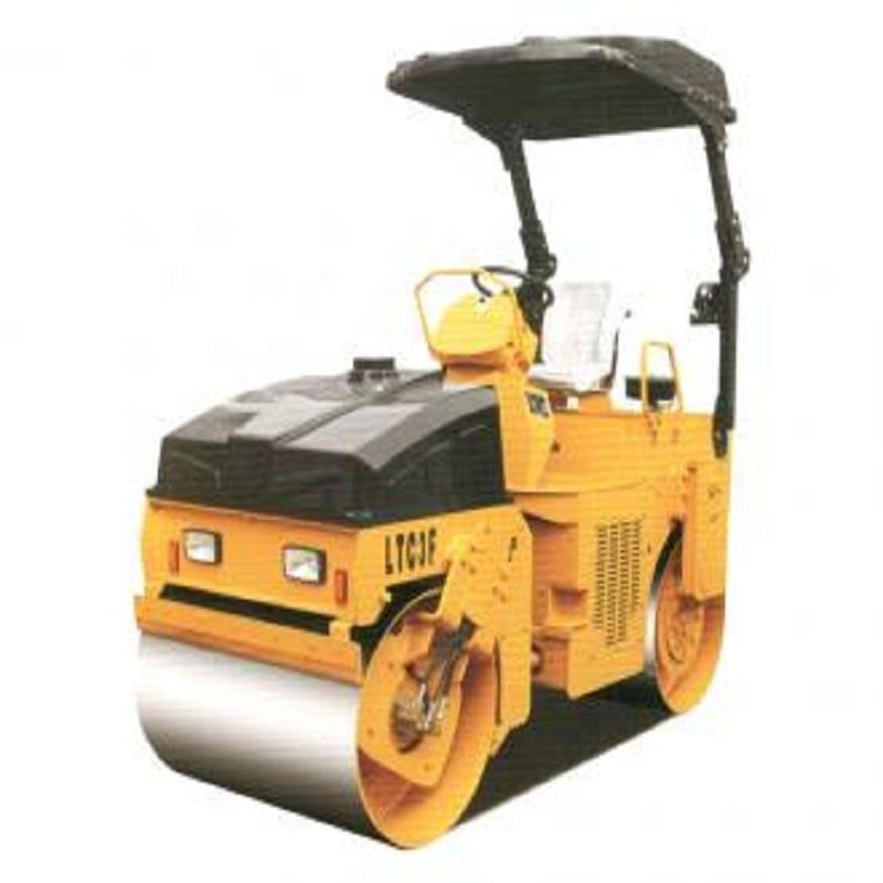 China LUTONG 3 ton hydraulic double drum mini road roller LTC3B hot sale in Malaysia