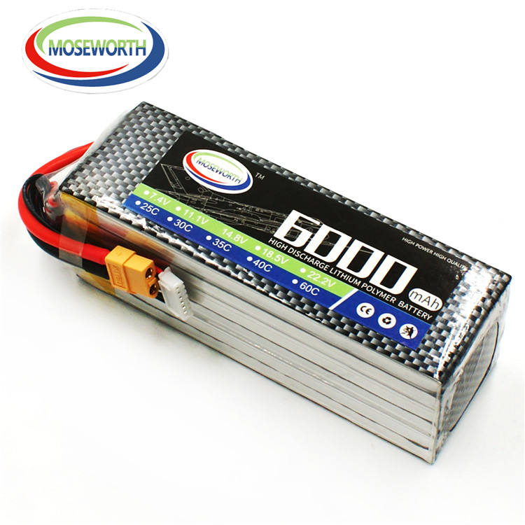 MOSEWORTH 60C 6S 22,2 V 6000mah control <span class=keywords><strong>remoto</strong></span> caso duro Lipo RC <span class=keywords><strong>coche</strong></span> <span class=keywords><strong>de</strong></span> paquete <span class=keywords><strong>de</strong></span> <span class=keywords><strong>baterías</strong></span>