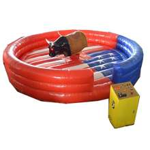 Rodeo mechanical bull inflatable bullfighting machine with arena mattress