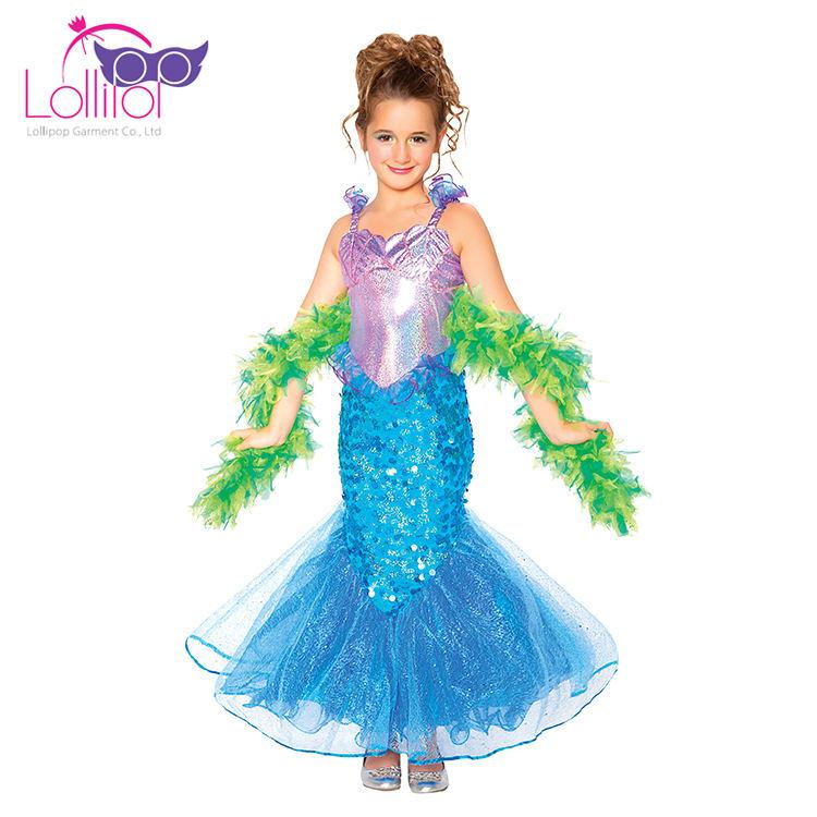 Halloween karneval kostüm meerjungfrau kostüm für mädchen mit boa