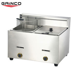 Commercial lpg deep fryers gas portable with thermostat/gas fryer gf181  single  and 18liter