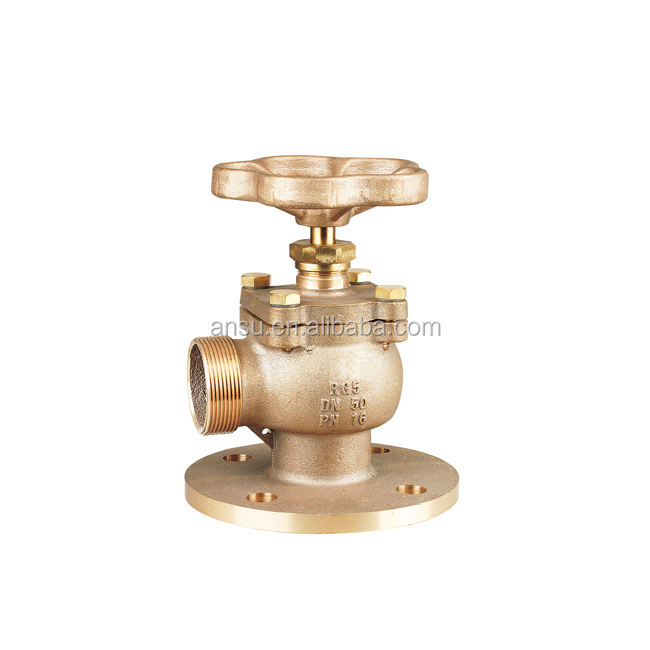 Fire water valve with flange