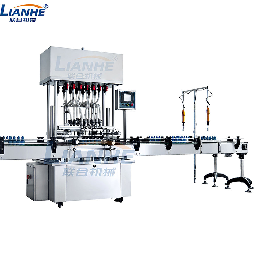 Full Automatic Body Cream Bottle Filling Capping Labeling Machine Lotion Cream Shampoo Liquid Filling Line
