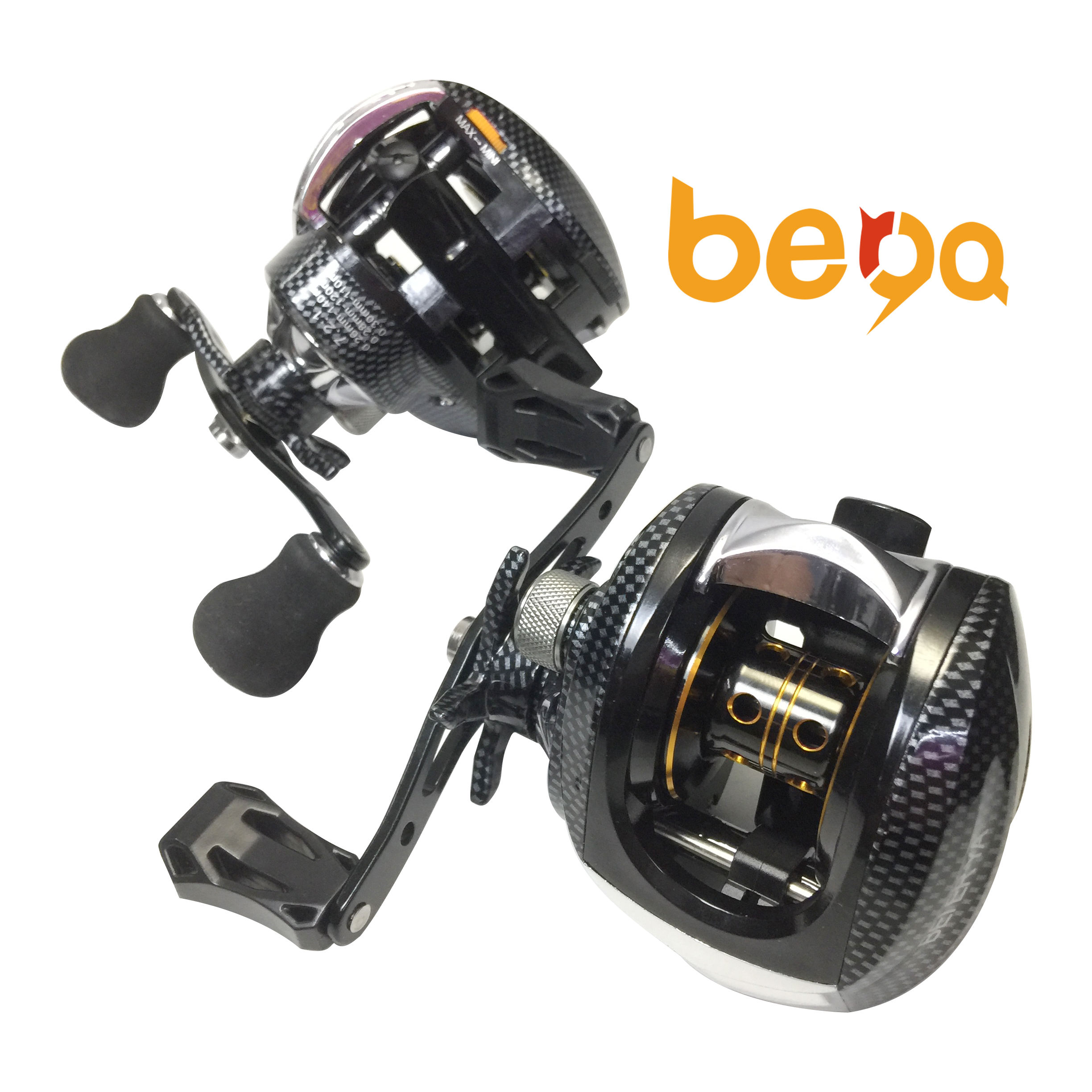 Smooth Dual Braking System 17+1BB Baitcasting Fishing Reel Low Profile Bait Casting Reel