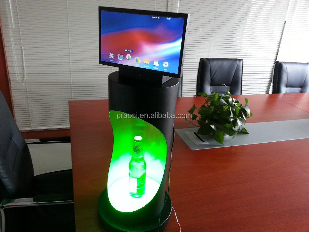 Counter Top Market Display Metal POP Display Stand Counter Top Hook Displays Perspex Display Box With Led Light
