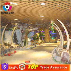 Theme Park Entrance Door Prehistorical Artificial Dinosaur Bone Fossils For Sale