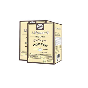 Lifeworth japan vis collageen peptide poeder latte koffie