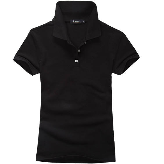 Navy Plain Sport Polo T Shirt For Man