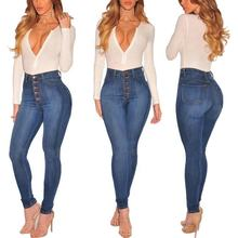 Skinny Plu Size Long Denim Pant ladies High Waist pantalones kan can Jeans women 2019