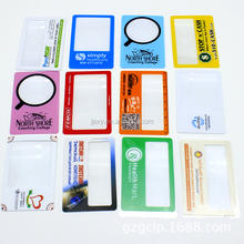 Free sample Custom logo Business card 3X PVC Credit Card Sized magnifier Fresnel Magnifier