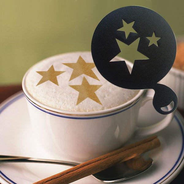 Plantilla de plástico para el café y la leche del té