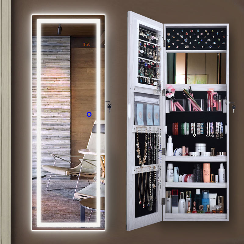 Jewelry storage led mirror LED mirror with cabinet, wall mirror with lamp