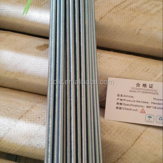 10(mm) thickness,3m length,1.3kg Threaded rods