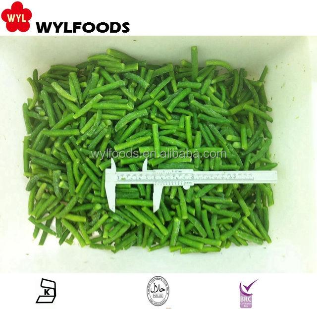Быстрозамороженные зеленые бобы полностью или сокращения