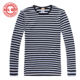 2016 New Sublimation Odile Fiber Striped Sailor Shirt Popular Design Sublimation T shirts