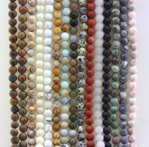 Wholesale 4/6/8/10/12mm Frosted Matte Polished Natural Loose Stone Beads For Jewelry Making