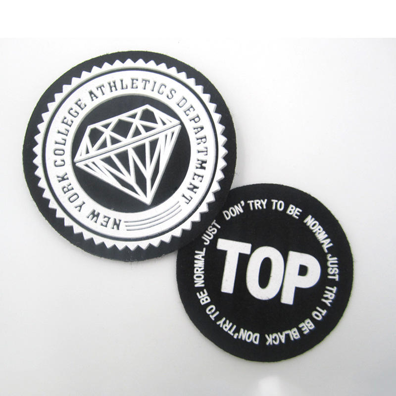 Factory Price Custom Hook Backing 3D Rubber/PVC Heat Transfer Silicone Logo Patches for Clothing