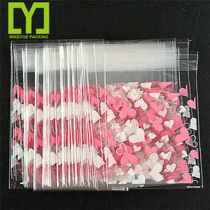 Clear Cellophane Resealable Bakery Candy Envelope Cookie plastic promotional transparent opp packaging bag