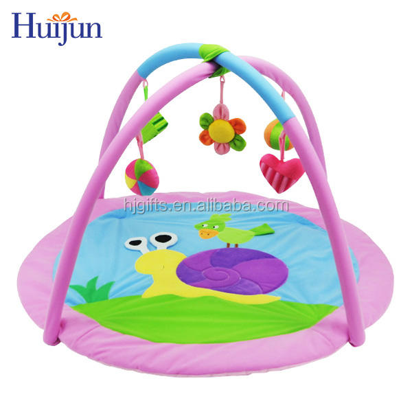 2019 Hot sale factory pink cute snail baby play mat toy animal play mat kid