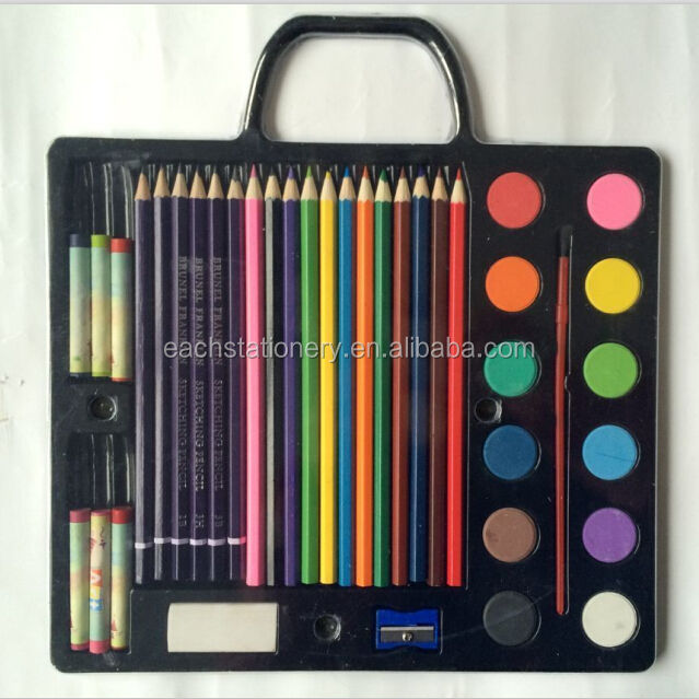 Wholesale Office Stationery Set for Kids Drawing Set Packed by Blister