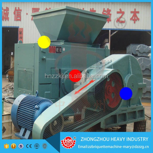 Energy saving high quality roller press coal briquetting machine