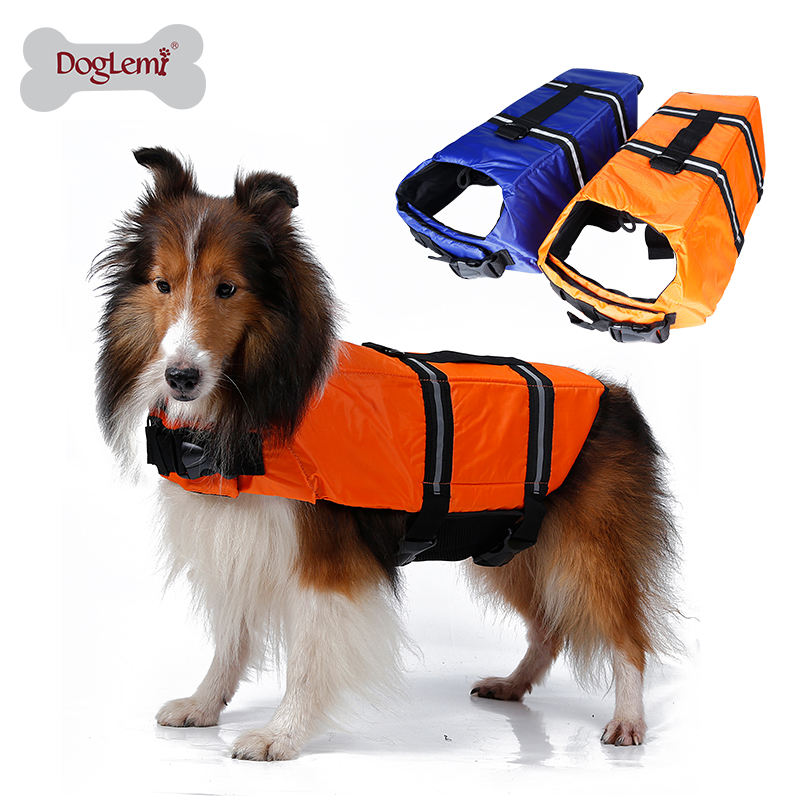 Floating dog life jacket Pet Preserver Water Safety Vests fashion Dog Swimming Vest
