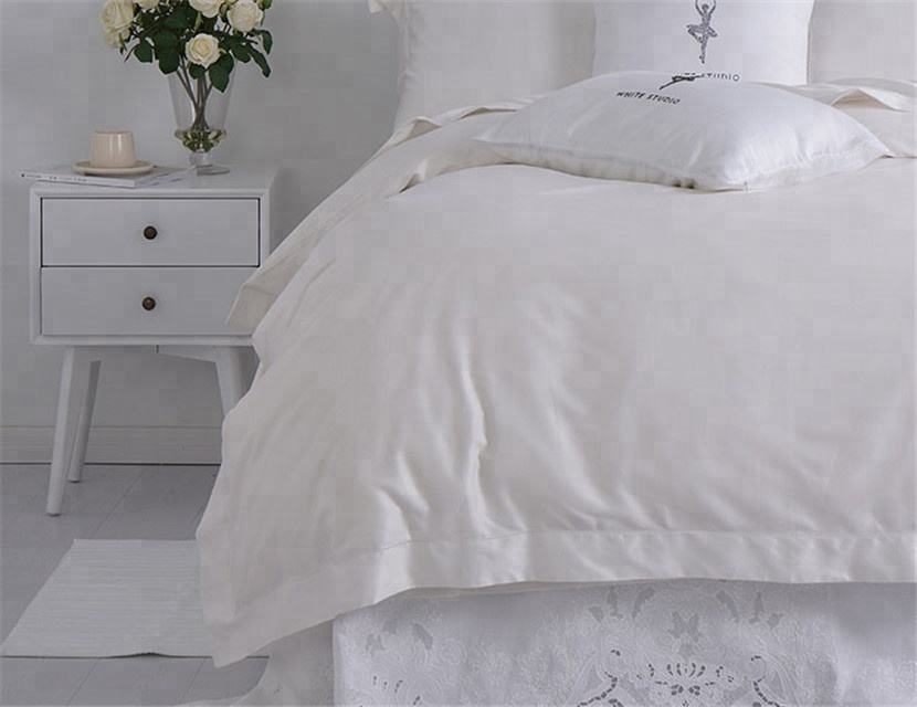 wholesale Home Hotel bed sheets Pure white Cotton /Microfiber bed sheet bedding set bed set