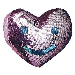 Magic Flip Reversible Sequin Throw Pillow Insert Heart Shape Decor Pillow