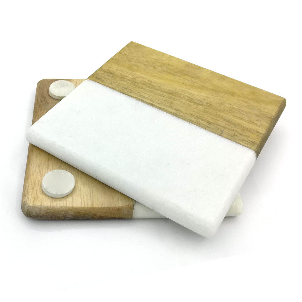 Hot Sale OEM Table Accessory/Decoration Customized Marble Wood Coaster