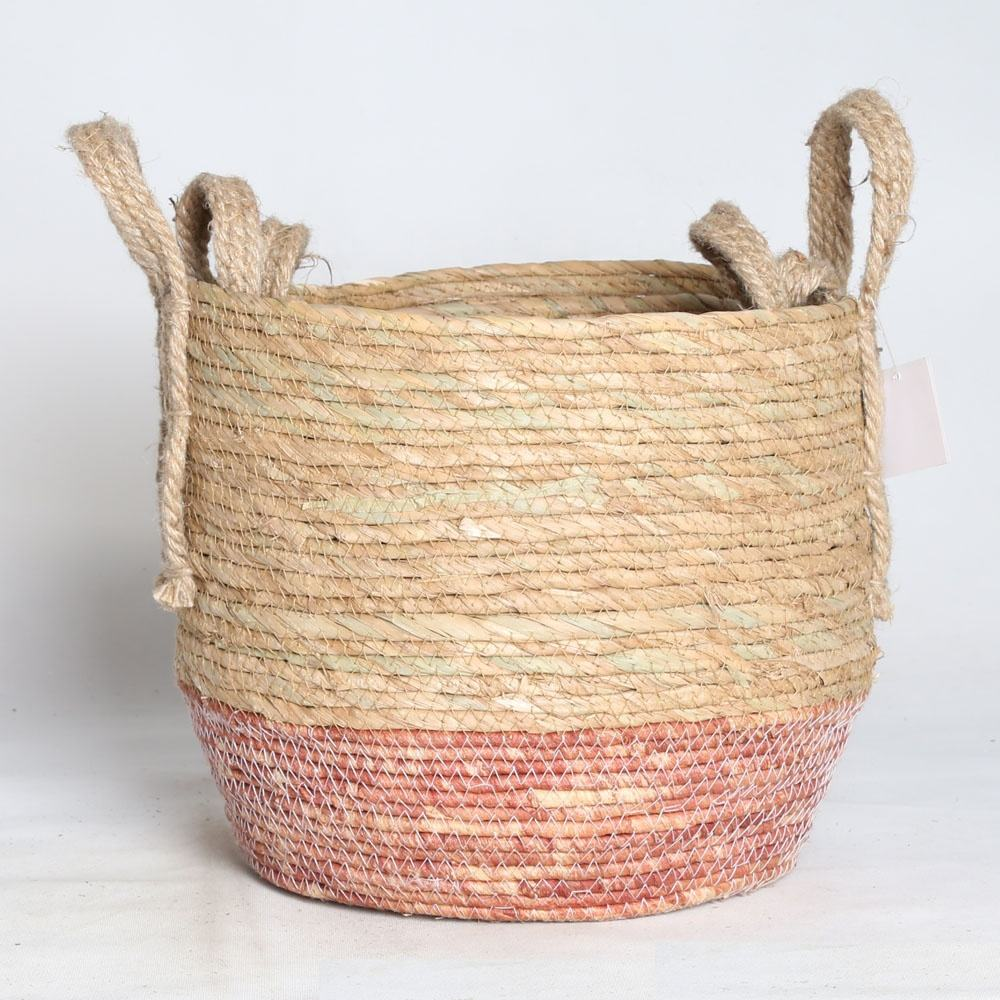 New design woven basket seagrass for plants
